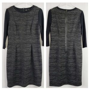 Elie Tahari Heather Gray Sheath Dress, 10